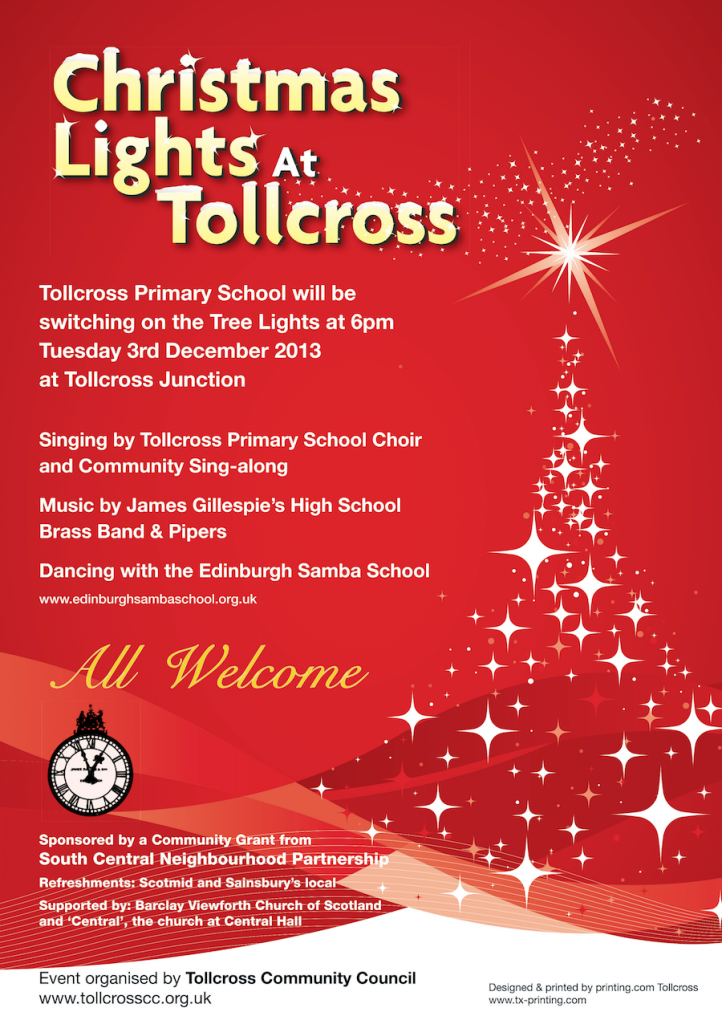 Tollcross Christmas lights Poster