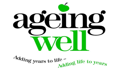Ageing Well logo - with caption
