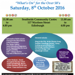 Mix and Mingle 8th Oct. Southside Community Centre.